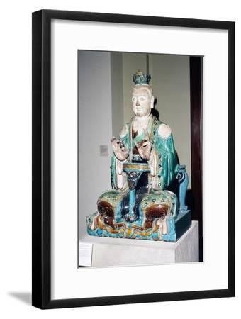 Chinese Stoneware, Seated Daoist Deity, Ming Dynasty, 16th century-Unknown-Framed Giclee Print