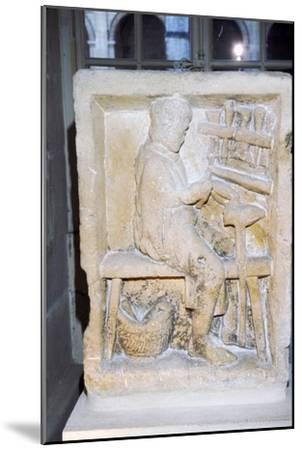 Roman relief of a shoe-maker or repairer from Rheims, France, c1st-2nd century-Unknown-Mounted Giclee Print