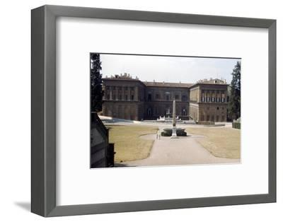 Pitti Palace and the Boboli Gardens in August, Florence, Italy, c20th century-Unknown-Framed Photographic Print