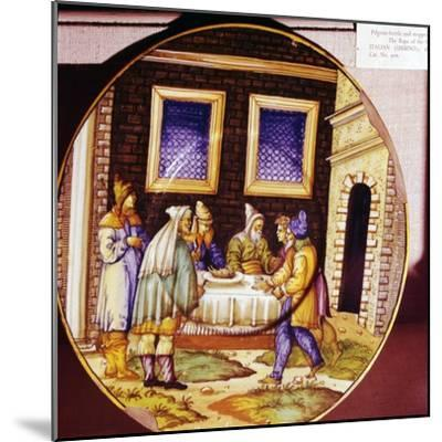 The Institution of Passover, Italian Earthenware plate from Urbino, c1540-1545-Unknown-Mounted Giclee Print