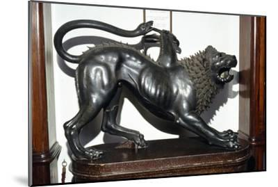 The Chimera Etruscan Bronze, 5th century BC-Unknown-Mounted Giclee Print