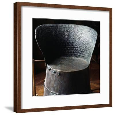 Etruscan Bronze Funerary Chair, 7th century BC-Unknown-Framed Giclee Print