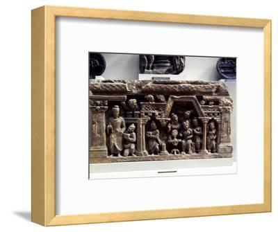 The Conversion of Sundarananda., Relief from Afghanistan, 2nd century-Unknown-Framed Giclee Print