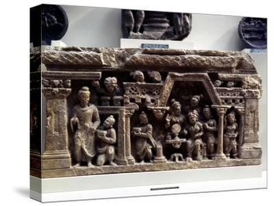 The Conversion of Sundarananda., Relief from Afghanistan, 2nd century-Unknown-Stretched Canvas Print