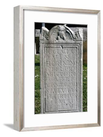 Roman Inscription on Tombstone, c2nd-5th century-Unknown-Framed Giclee Print