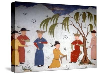 Li-ta-chih and Maksun, present history books to Uljaytu, c14th-15th century-Unknown-Stretched Canvas Print