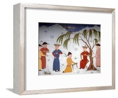 Li-ta-chih and Maksun, present history books to Uljaytu, c14th-15th century-Unknown-Framed Giclee Print