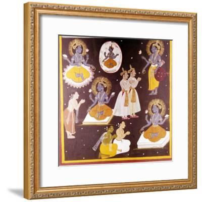 Vishnu worshipped in Five Manifestations, c1690-Unknown-Framed Giclee Print