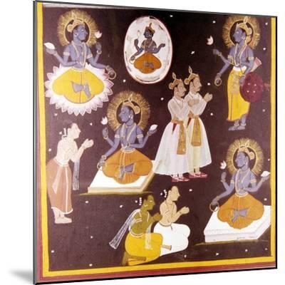 Vishnu worshipped in Five Manifestations, c1690-Unknown-Mounted Giclee Print