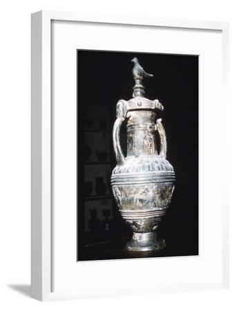 Etruscan Bucchero Vase from Chiusi, 7th century BC-6th century BC-Unknown-Framed Giclee Print