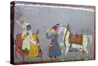 Vishnu in his 10th Incarnation as the White Houre Kalki, 1710-1720-Unknown-Stretched Canvas Print