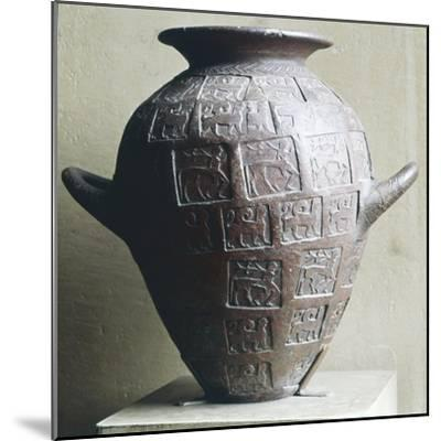 Etruscan Jar stamped with Centaurs and winged lions, 6th century BC-Unknown-Mounted Giclee Print