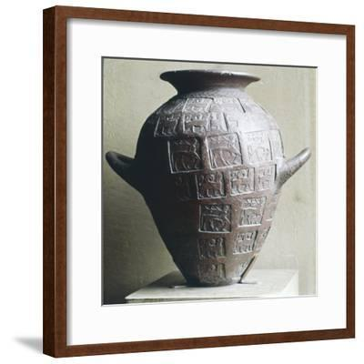 Etruscan Jar stamped with Centaurs and winged lions, 6th century BC-Unknown-Framed Giclee Print