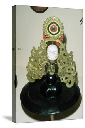 Tibetan Black Hat used in Ritual Black Hat Dance, of pre-Buddhist origin-Unknown-Stretched Canvas Print