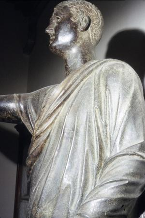 The Orator, Etruscan Bronze, detail, 1st century BC-Unknown-Framed Giclee Print