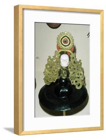 Tibetan Black Hat used in Ritual Black Hat Dance, of pre-Buddhist origin-Unknown-Framed Giclee Print
