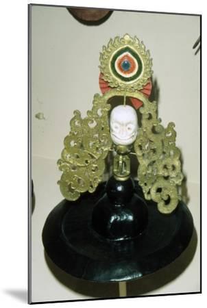 Tibetan Black Hat used in Ritual Black Hat Dance, of pre-Buddhist origin-Unknown-Mounted Giclee Print