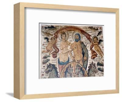 Triumph of Neptune and Amphitrite, Roman mosaic, early 4th century-Unknown-Framed Giclee Print