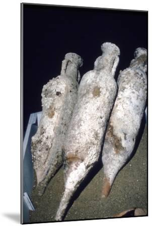 Roman Amphorae from wreck of a merchant ship, c2nd century BC-Unknown-Mounted Giclee Print