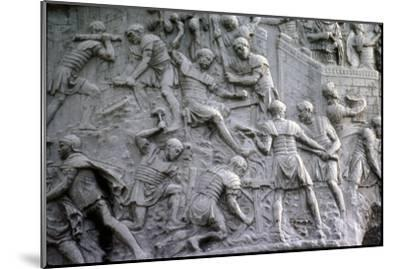 Roman soldiers working on construction, Trajan's Column, Rome, c2nd century-Unknown-Mounted Giclee Print