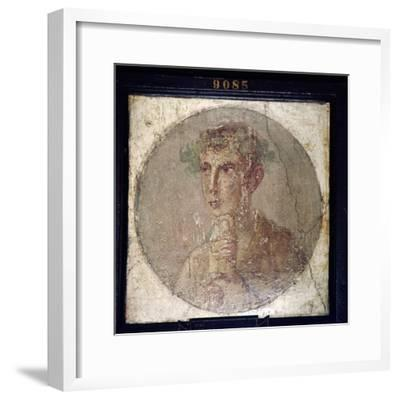 Roman Portait of a Young Man from Pompeii, c1st century-Unknown-Framed Giclee Print