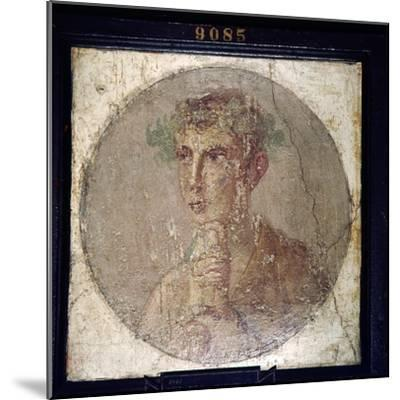Roman Portait of a Young Man from Pompeii, c1st century-Unknown-Mounted Giclee Print