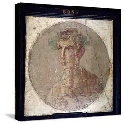 Roman Portait of a Young Man from Pompeii, c1st century-Unknown-Stretched Canvas Print
