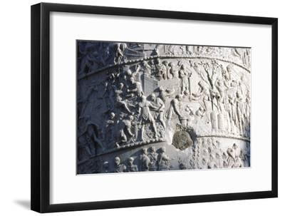 Roman soldiers building a fort in the Dacian campaign, Trajan's Column, Rome, c2nd century-Unknown-Framed Giclee Print