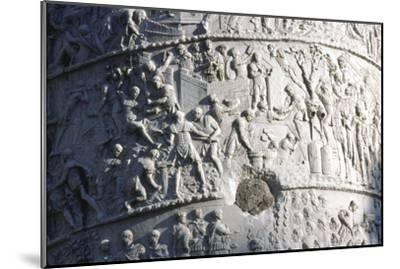 Roman soldiers building a fort in the Dacian campaign, Trajan's Column, Rome, c2nd century-Unknown-Mounted Giclee Print