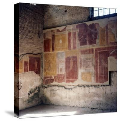 Wall paintings in house in Ostia, 2nd-3rd century-Unknown-Stretched Canvas Print