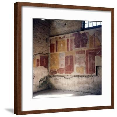 Wall paintings in house in Ostia, 2nd-3rd century-Unknown-Framed Giclee Print