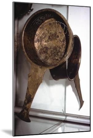 Roman bronze Strainer from Germany, c2nd century-Unknown-Mounted Giclee Print