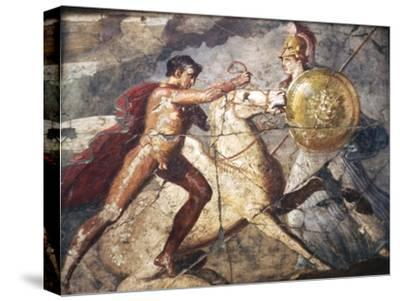 Bellerophon and Pegasus, Roman Wallpainting from Pompeii, 1st century-Unknown-Stretched Canvas Print