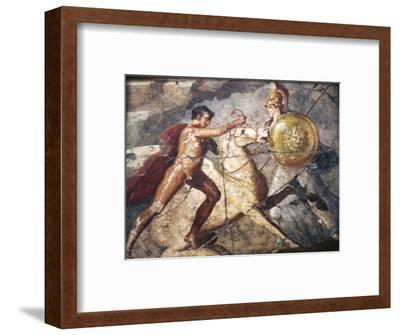 Bellerophon and Pegasus, Roman Wallpainting from Pompeii, 1st century-Unknown-Framed Giclee Print