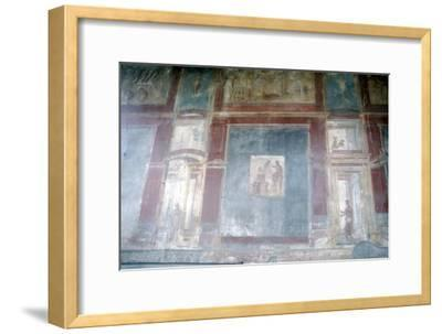 Wall painting from Pompeii, c1st century-Unknown-Framed Giclee Print