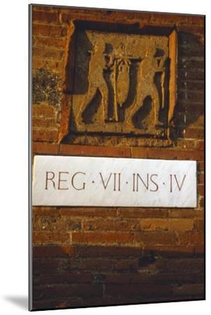 Wine-Merchant's Sign in Pompeii street c1st century-Unknown-Mounted Giclee Print