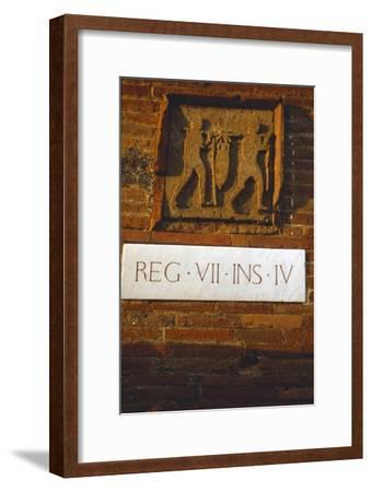 Wine-Merchant's Sign in Pompeii street c1st century-Unknown-Framed Giclee Print