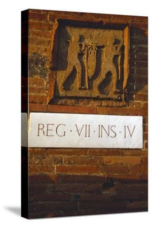 Wine-Merchant's Sign in Pompeii street c1st century-Unknown-Stretched Canvas Print