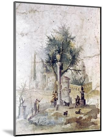 Roman wall painting from villa of Agriopa Posthumus, near Pompeii, c1st century-Unknown-Mounted Giclee Print