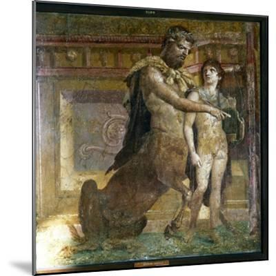 The Centaur 'Cheiron' teaching Achilles, Roman wall-painting from Herculaneum, c1st century-Unknown-Mounted Giclee Print