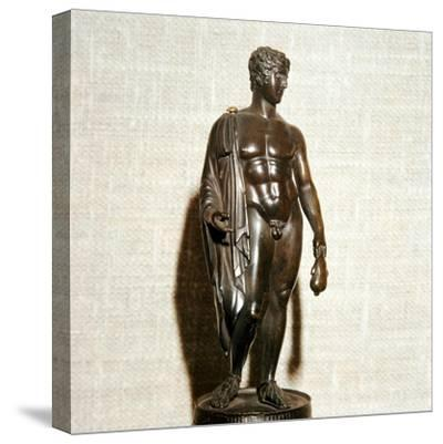 Mercury (Hermes) holding a purse (as bringer of good fortune), Roman, 1st century-Unknown-Stretched Canvas Print