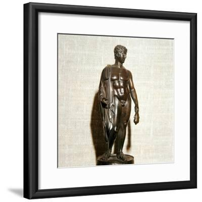 Mercury (Hermes) holding a purse (as bringer of good fortune), Roman, 1st century-Unknown-Framed Giclee Print