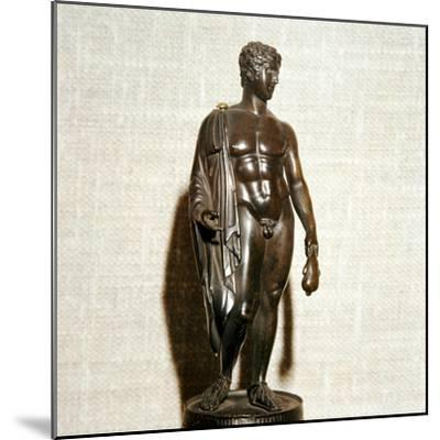 Mercury (Hermes) holding a purse (as bringer of good fortune), Roman, 1st century-Unknown-Mounted Giclee Print