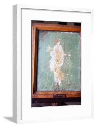 Flora or Primavera, Roman wall painting from Pompeii, c1st century-Unknown-Framed Giclee Print