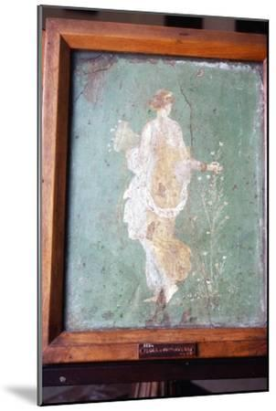 Flora or Primavera, Roman wall painting from Pompeii, c1st century-Unknown-Mounted Giclee Print