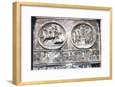 Arch of constantine Horizontal Band showing , Battle of Milvian Bridge, 313-315-Unknown-Framed Giclee Print