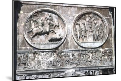Arch of constantine Horizontal Band showing , Battle of Milvian Bridge, 313-315-Unknown-Mounted Giclee Print