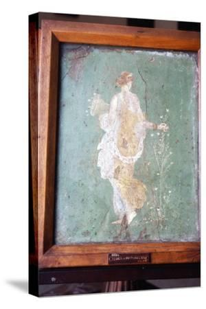 Flora or Primavera, Roman wall painting from Pompeii, c1st century-Unknown-Stretched Canvas Print