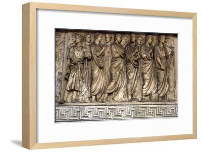 Members of Augustan family, Ara Pacis, 'Altar of Peace', Rome, 13 BC-Unknown-Framed Giclee Print