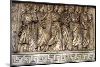 Members of Augustan family, Ara Pacis, 'Altar of Peace', Rome, 13 BC-Unknown-Mounted Giclee Print